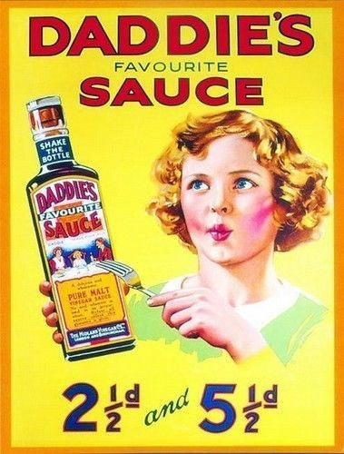 daddie-s-brown-sauce-old-vintage-advertising-kitchen-food-metal-steel-wall-sign