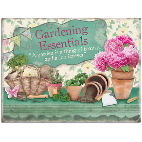 Gardening Essentials. A garden is a thing of beauty,  Fridge Magnet