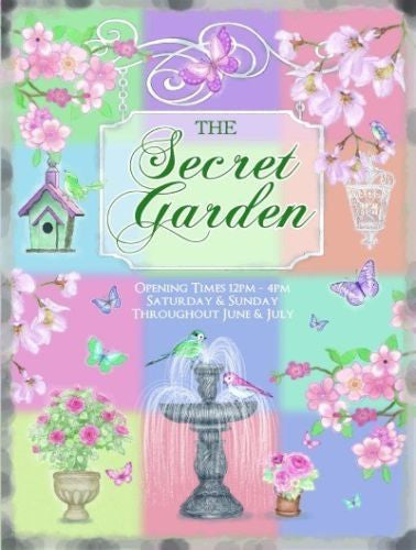 the-secret-garden-flowers-birds-water-fountain-pastel-colours-open-and-close-sign-ideal-for-shed-garden-greenhouse-kitchen-cafe-home-or-house-metal-steel-wall-sign