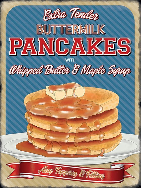 buttermilk-pancakes-with-whipped-butter-and-maple-syrup-any-topping-and-filling-american-canadian-breakfast-retro-vintage-old-design-advert-50-s-ideal-for-house-home-bar-cafe-kitchen-shop-or-pub-b-b-or-hotel-metal-steel-wall-sign