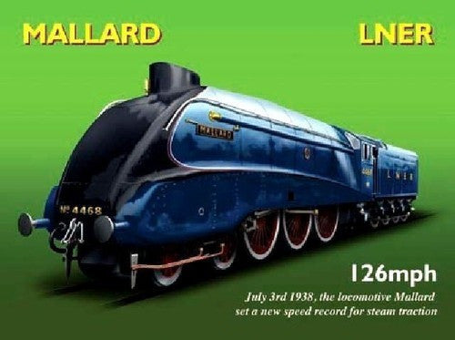 mallard-steam-engine-train-blue-set-a-world-speed-record-in-1938-steam-traction-ideal-for-house-home-bar-pub-and-man-cave-metal-steel-wall-sign