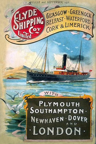 clyde-shipping-co-limited-ltd-company-steam-boat-southampton-boat-at-sea-old-retro-vintage-advert-for-house-home-cafe-bar-pub-or-shop-metal-steel-wall-sign
