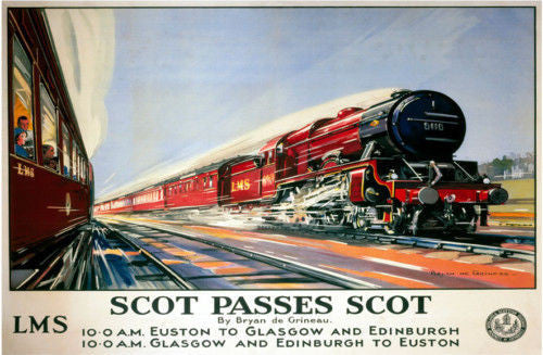 scot-passes-scot-flying-scotsman-train-red-london-to-edinburgh-euston-london-old-retro-vintage-advert-in-design-british-rail-lms-locomotion-steam-rail-train-metal-steel-wall-sign