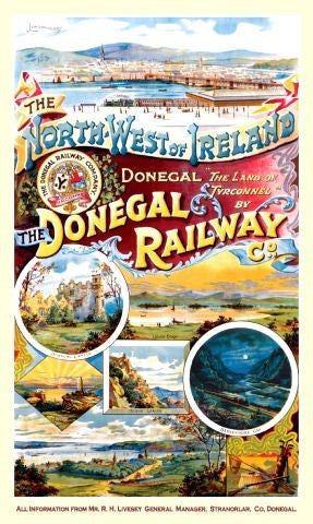 donegal-railway-steam-train-nw-ireland-classic-metal-steel-wall-sign