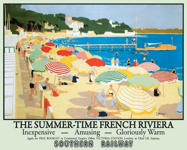 french-riviera-seaside-beach-southern-railway-art-deco-the-summer-time-holiday-advert-for-home-shop-cafe-shop-or-pub-metal-steel-wall-sign