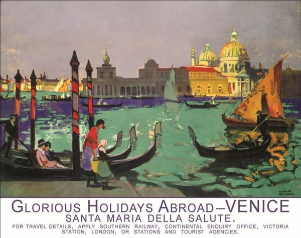 venice-gondola-italy-italian-holiday-abroad-old-art-deco-retro-vintage-advert-for-home-shop-cafe-shop-or-pub-metal-steel-wall-sign