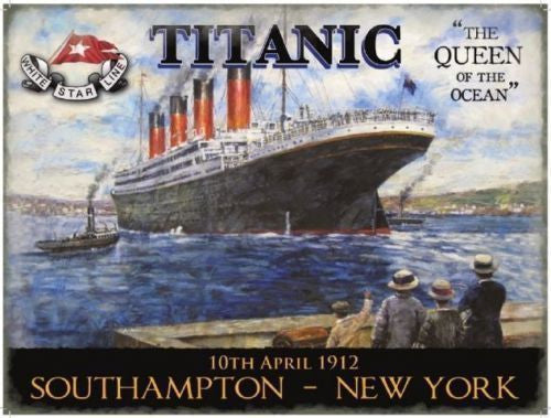 titanic-the-queen-of-the-ocean-1912-white-star-line-painted-retro-vintage-old-advert-for-the-boat-liner-maiden-voyage-for-house-home-bar-and-shop-metal-steel-wall-sign