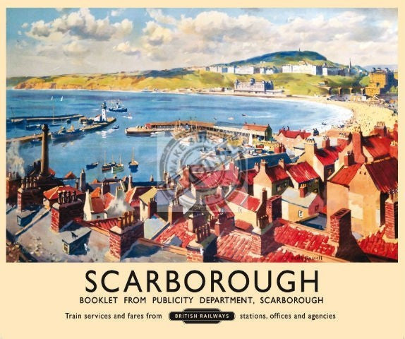 scarborough-harbour-beach-bay-vintage-british-rail-ad-metal-steel-wall-sign