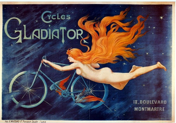 gladiator-cycles-cycling-naked-woman-girl-old-art-deco-vintage-advert-riding-in-sky-with-stars-for-home-shed-garage-pub-bar-or-restaurant-metal-steel-wall-sign