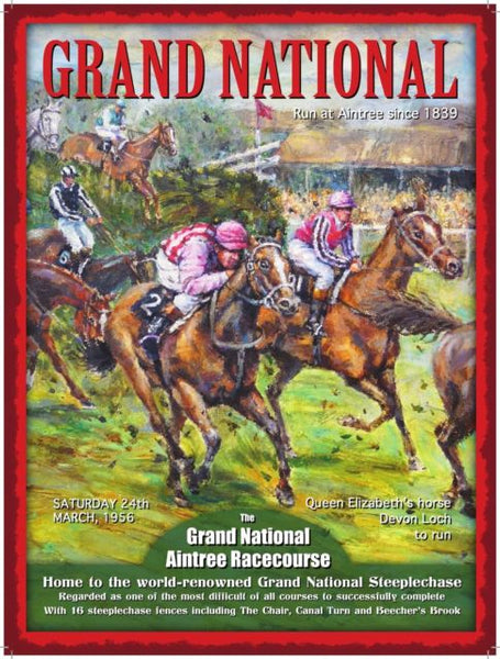 Grand National Horse Racing - Sport, vintage, Metal/Steel Wall Sign