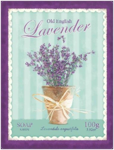 old-english-lavender-lavandula-purple-plant-potted-plant-smell-scented-wild-flower-used-in-oils-metal-steel-wall-sign