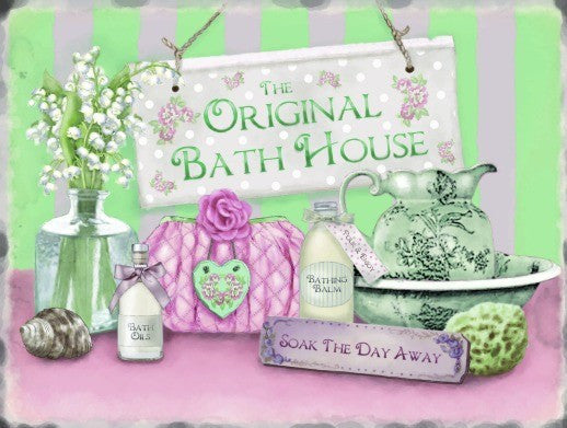 the-original-bath-house-soak-the-day-away-the-spa-pamper-relax-towels-sponge-flowers-candles-soap-ideal-for-house-home-bathroom-toilet-restroom-wc-wash-room-shop-and-spa-metal-steel-wall-sign