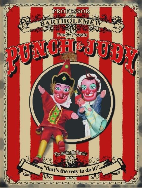 Punch & Judy. Marionette Theatre, beach tent, That's  Metal/Steel Wall Sign