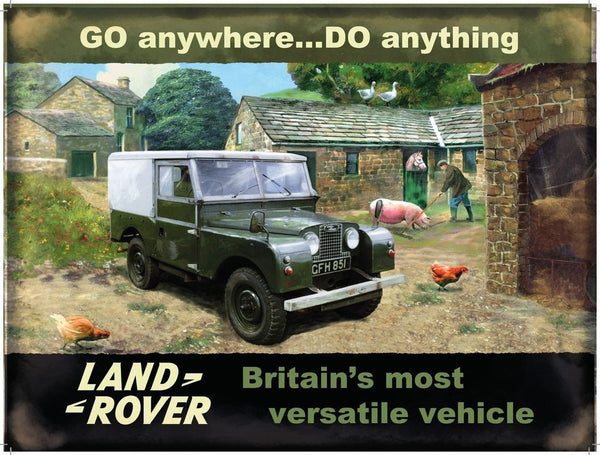 land-rover-in-green-on-the-farm-motor-car-truck-4x4-mk1-for-kitchen-house-home-man-cave-garage-shed-allotment-metal-steel-wall-sign