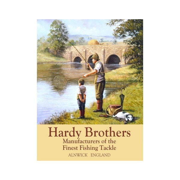 hardy-brother-finest-fishing-tackle-alnwick-england-father-grandfather-son-grandson-on-river-bank-fishing-line-and-net-for-home-house-kitchen-shed-garage-or-shop-metal-steel-wall-sign