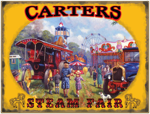 carters-steam-fair-round-about-steam-engine-and-slide-at-fun-fair-30-s-40-s-50-s-for-home-house-or-shop-metal-steel-wall-sign