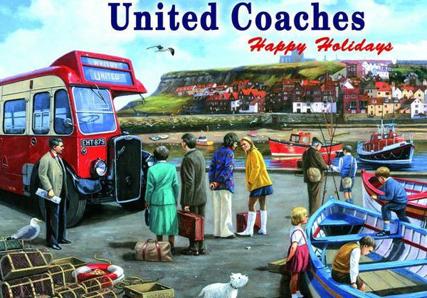 united-coaches-whitby-harbour-seaside-holiday-old-boats-in-harbour-and-red-single-deck-bus-for-house-home-garage-shop-or-pub-metal-steel-wall-sign