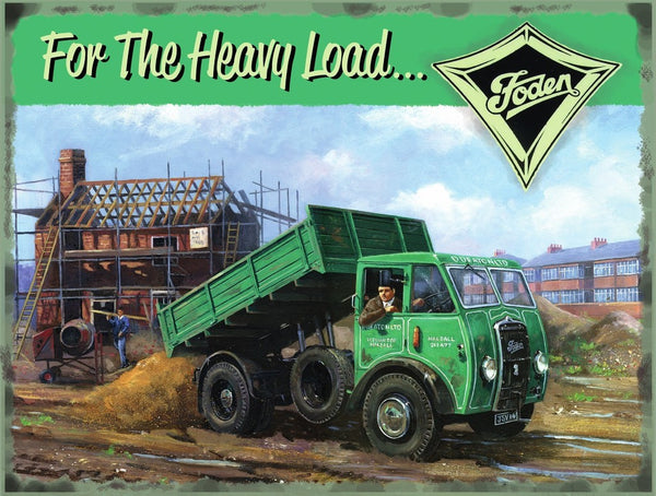foden-truck-lorry-wagon-tipper-vintage-advert-garage-old-metal-steel-wall-sign