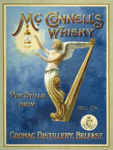 mcconnell-s-whisky-bottle-angel-harp-drink-old-retro-vintage-advert-for-pub-bar-house-home-or-kitchen-metal-steel-wall-sign
