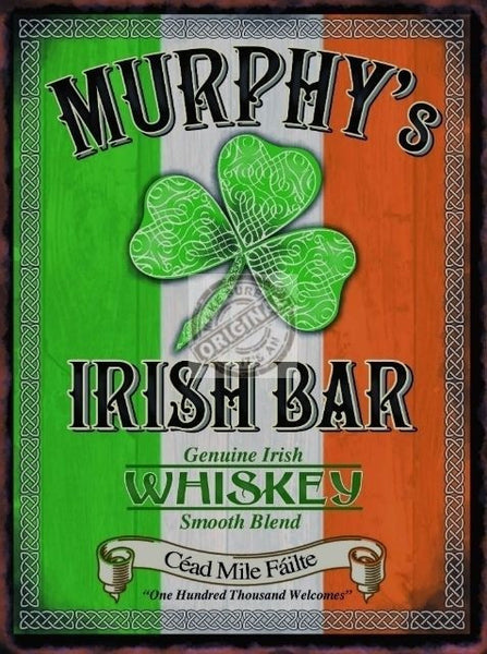 murphy-s-irish-bar-pub-sign-irish-flag-and-clover-and-celtic-whiskey-whisky-drink-bar-for-house-home-bar-or-pub-metal-steel-wall-sign