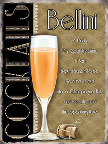 bellini-recipe-sparkling-wine-and-peach-puree-cocktail-classic-posh-champagne-flute-weddings-posh-bucks-fizz-deco-in-design-of-the-sign-20-s-30-s-drink-metal-steel-wall-sign
