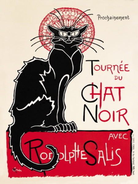 Tournee du Chat Noir. The Black Cat. Cabaret, nightclub,  Metal/Steel Wall Sign