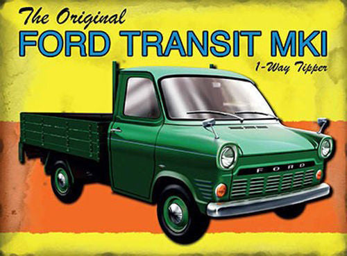 the-original-ford-transit-mki-1-way-tipper-in-green-british-classic-van-back-bone-of-britain-mark-1-ideal-house-home-bar-pub-garage-shed-or-man-cave-metal-steel-wall-sign