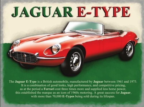 red-jaguar-e-type-classic-british-motor-car-of-the-60-s-and-70-s-car-of-the-stars-for-house-home-garage-pub-shed-or-man-cave-metal-steel-wall-sign