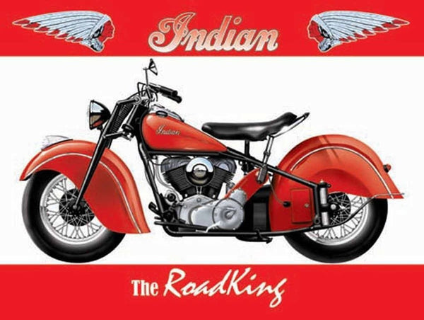 red-indian-motor-cycle-the-road-king-classic-bike-for-house-home-garage-petrol-head-man-cave-biker-pub-or-bar-metal-steel-wall-sign