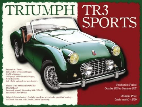 triumph-tr3-classic-british-sports-car-retro-vintage-old-for-house-home-garage-man-cave-petrol-head-or-pub-metal-steel-wall-sign