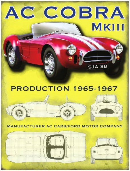 ac-cobra-mkiii-mk3-1965-1967-red-american-classic-car-in-red-includes-draft-drawings-of-vehicle-for-house-home-garage-man-cave-petrol-head-and-pub-metal-steel-wall-sign