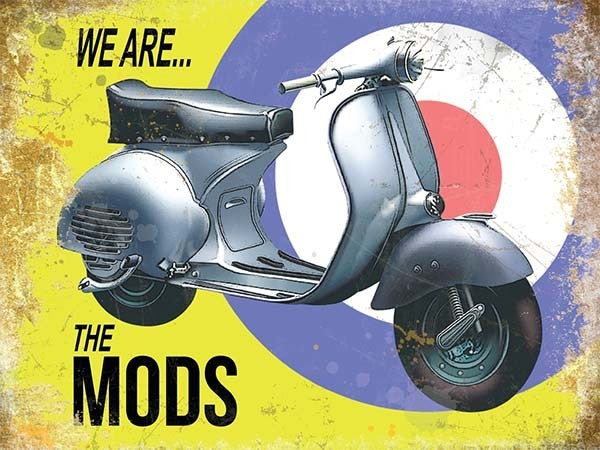 vespa-we-are-the-mods-scooter-moped-on-mod-target-background-for-home-cafe-bar-or-pub-metal-steel-wall-sign