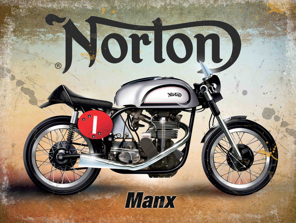 norton-manx-classic-british-motorcycle-old-vintage-garage-isle-of-man-tt-for-petrol-head-biker-pub-bar-house-home-or-garage-metal-steel-wall-sign