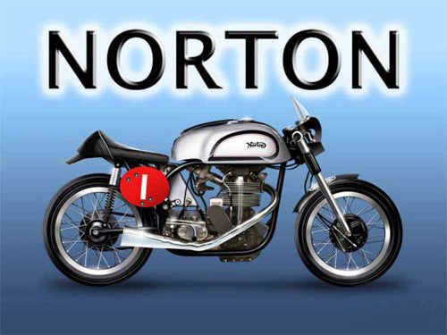 Norton Manx Classic British Motorcycle Old Vintage  Metal/Steel Wall Sign