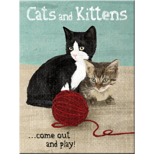 Cats and Kittens, Cute kittens, Ball of Wool, Fridge, Fridge Magnet