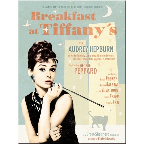 Audrey Hepburn Breakfast at Tiffany's Film Movie Vintage Classic  Fridge Magnet