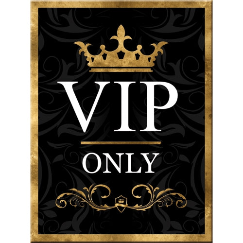 VIP Only Black Celebrity Kitchen Lounge Retro Man Cave Fridge Magnet