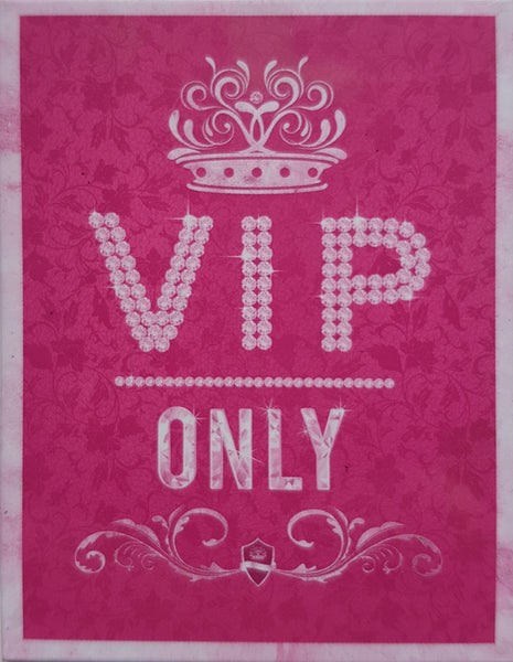 VIP Only Pink Celebrity Kitchen Lounge Retro Girls Room Fridge Magnet