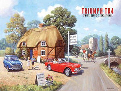 triumph-tr4-in-red-motor-car-drive-in-the-country-for-house-home-bar-pub-metal-steel-wall-sign