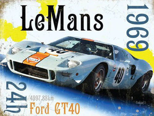 le-mans-24hr-1969-winner-ford-gt40-classic-sports-motor-racing-car-in-white-for-man-cave-bedroom-kids-room-petrol-head-garage-home-pub-or-bar-metal-steel-wall-sign