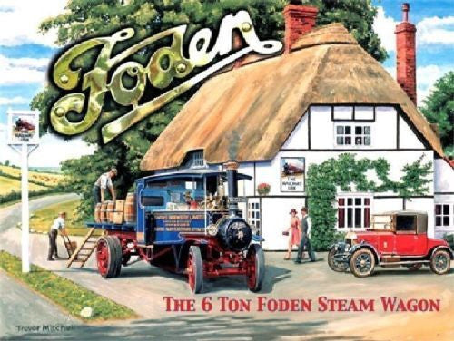 foden-steam-traction-engine-wagon-classic-vintage-truck-metal-steel-wall-sign
