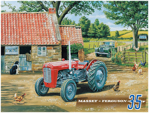 massey-ferguson-35-tractor-on-the-far-stables-land-rover-landy-hens-chickens-sheep-dog-ideal-for-house-home-kitchen-farm-cafe-shop-or-pub-metal-steel-wall-sign
