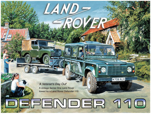 land-rover-110-mk1-mki-on-back-of-a-trailer-day-out-british-4x4-classic-on-back-farm-vehicle-metal-steel-wall-sign