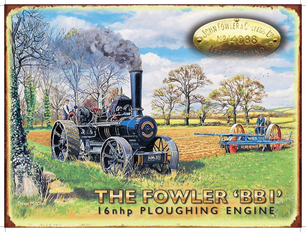 the-fowler-bbi-ploughing-engine-steam-powered-on-the-farm-for-house-home-bar-or-pub-metal-steel-wall-sign