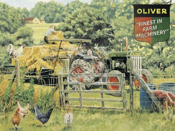 oliver-finest-in-farm-green-tractor-in-the-farm-fields-hay-making-chickens-and-farmer-for-house-home-bar-or-pub-metal-steel-wall-sign