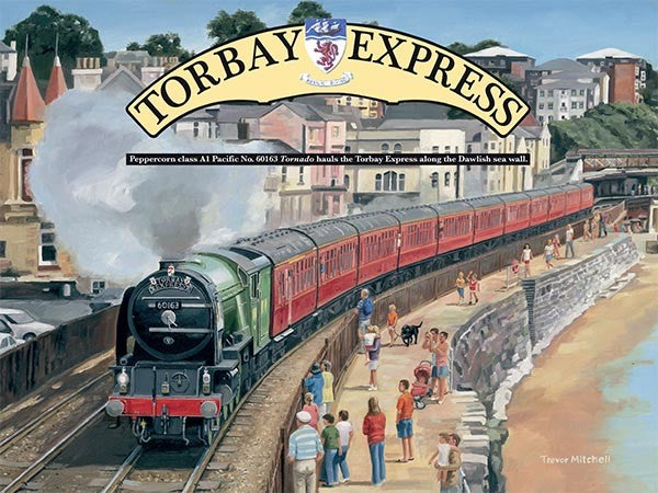 Torbay Express Stream Train Engine Beach Town Small Metal/Steel Wall Sign