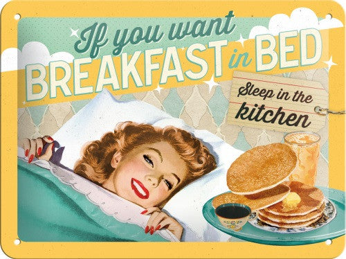 breakfast-in-bed-pancakes-retro-kitchen-bedroom-3d-metal-steel-wall-sign