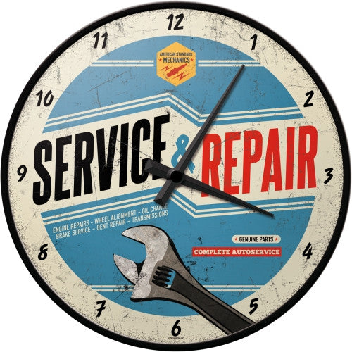 service-and-repair-complete-auto-service-blue-sign-spanner-24hour-genuine-parts-ideal-for-house-home-shed-garage-or-man-cave-automotive-clock