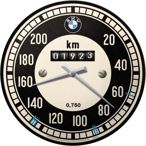 BMW Rev Counter Speedometer Motor Racing Automotive Bike Car Quartz Wall Clock