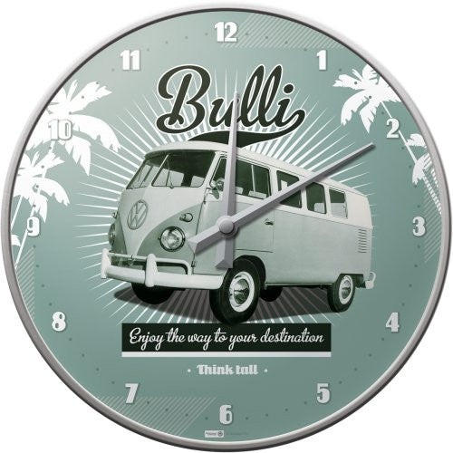vw-retro-bulli-old-volkswagen-camper-van-garage-wall-clock